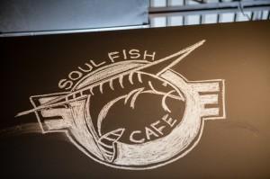 Soul Fish Cafe Floor Logo